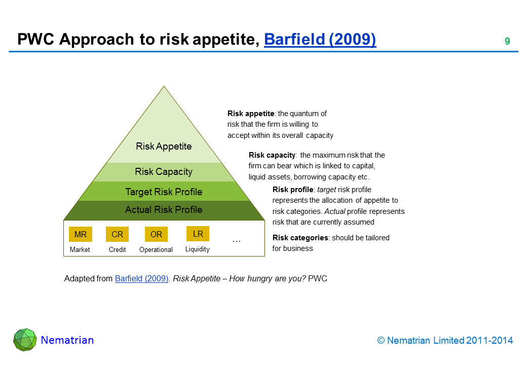 risk appetite template - enterprise risk management slides