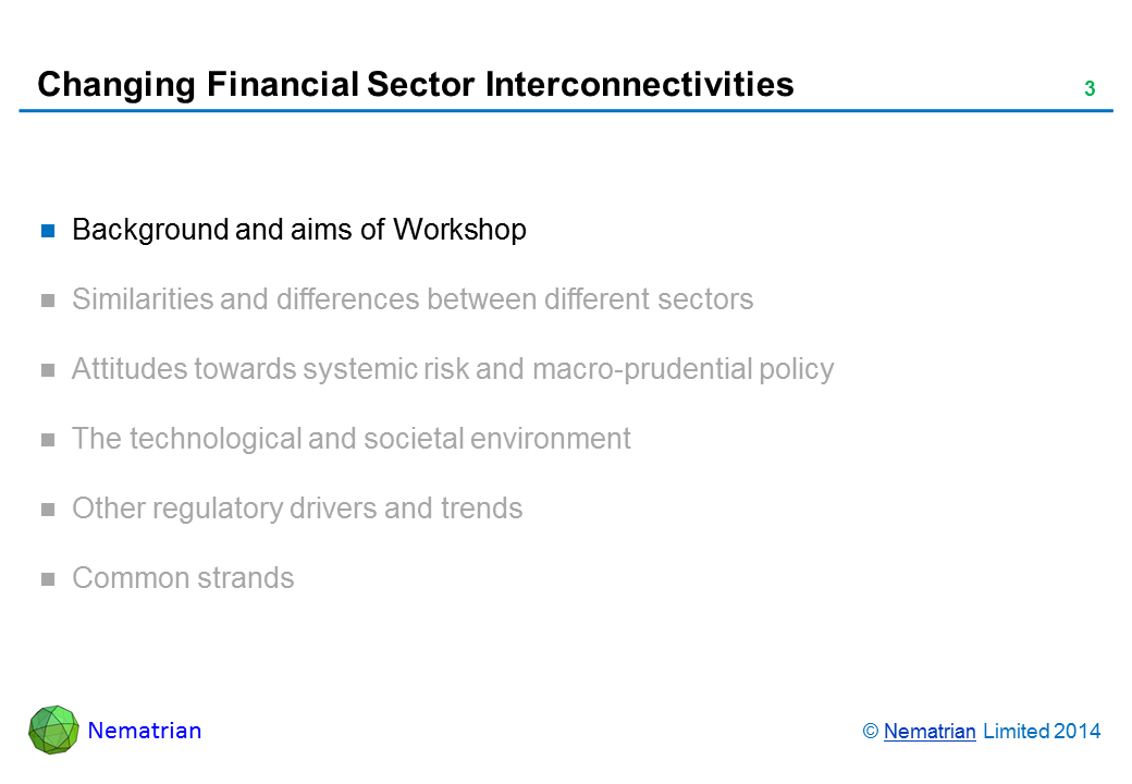 Bullet points include: Background and aims of Workshop